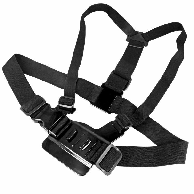 Set Accesorii Cu Geanta Pentru GoPro/SJCAM 14in1 Plutitor/Harness/Banda Suport Elastica/Suport Auto - Negru