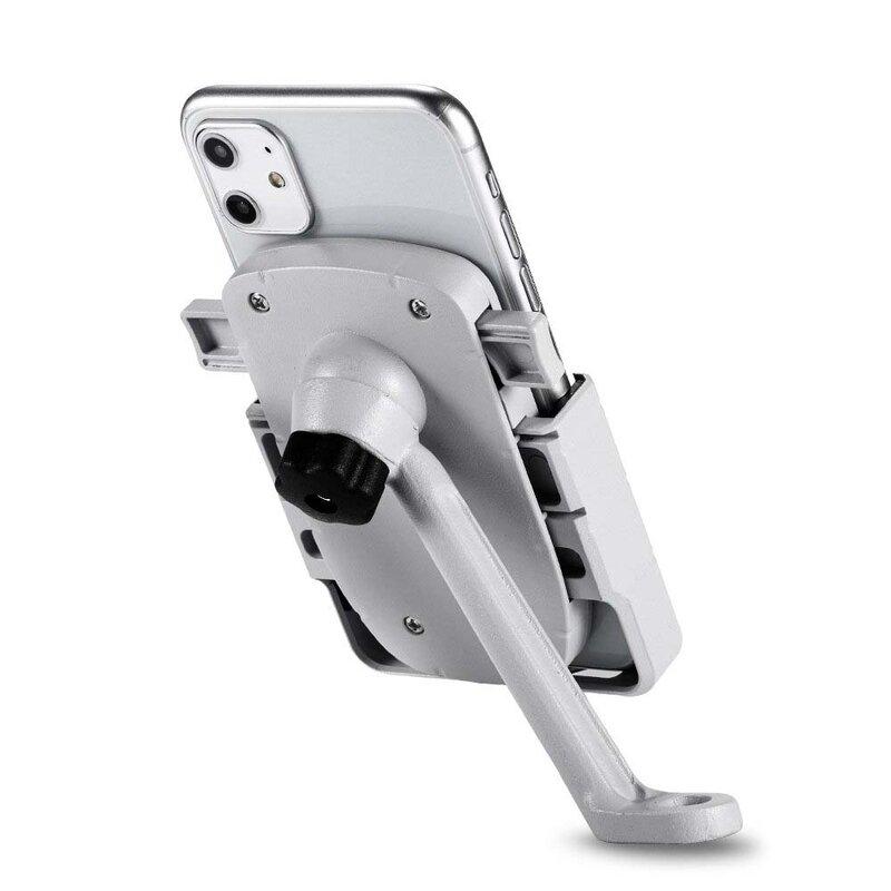 Suport Bicicleta / Motocicleta Mobster Pentru Telefon Din Aluminiu Cu Prindere Pe Suportul De Oglinda - CD-668 - Alb