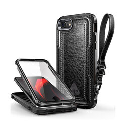 [Pachet 360°] Husa iPhone 7 Supcase Unicorn Beetle Royal + Folie Ecran - Black