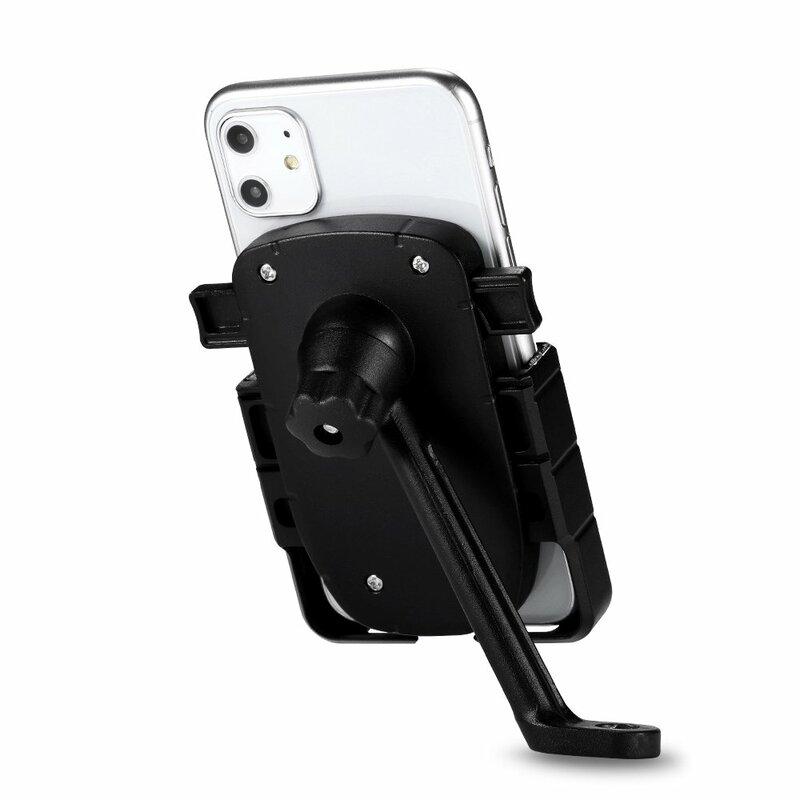 Suport Bicicleta / Motocicleta Mobster Pentru Telefon Aluminiu Cu Prindere Pe Suportul De Oglinda - CD-668 - Negru