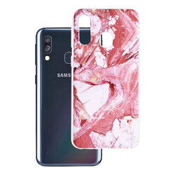 Husa Samsung Galaxy A40 Wozinsky Marble TPU - Pink