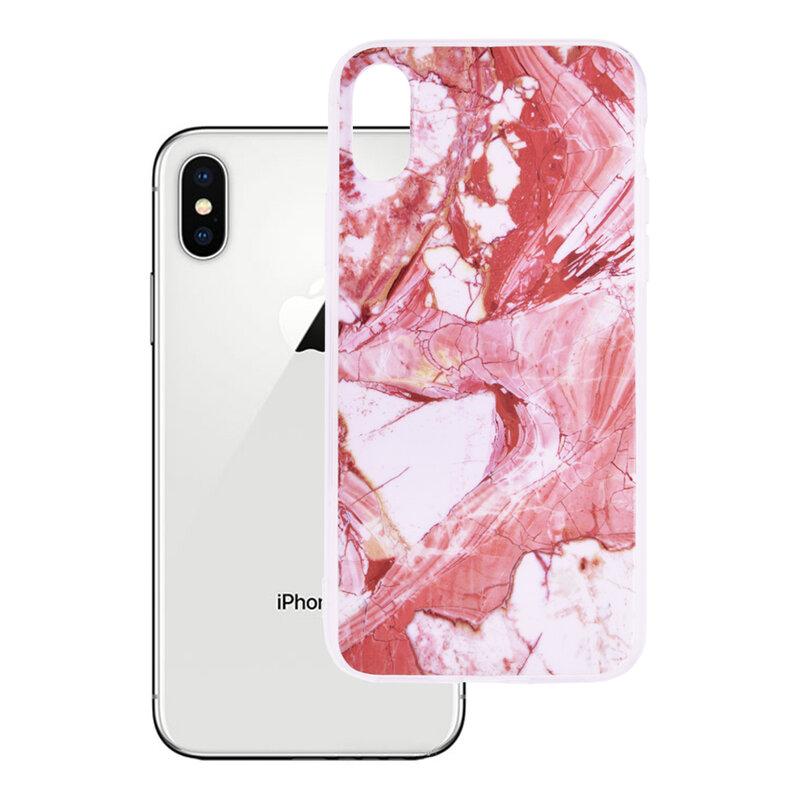 Husa iPhone XS Wozinsky Marble TPU - Pink