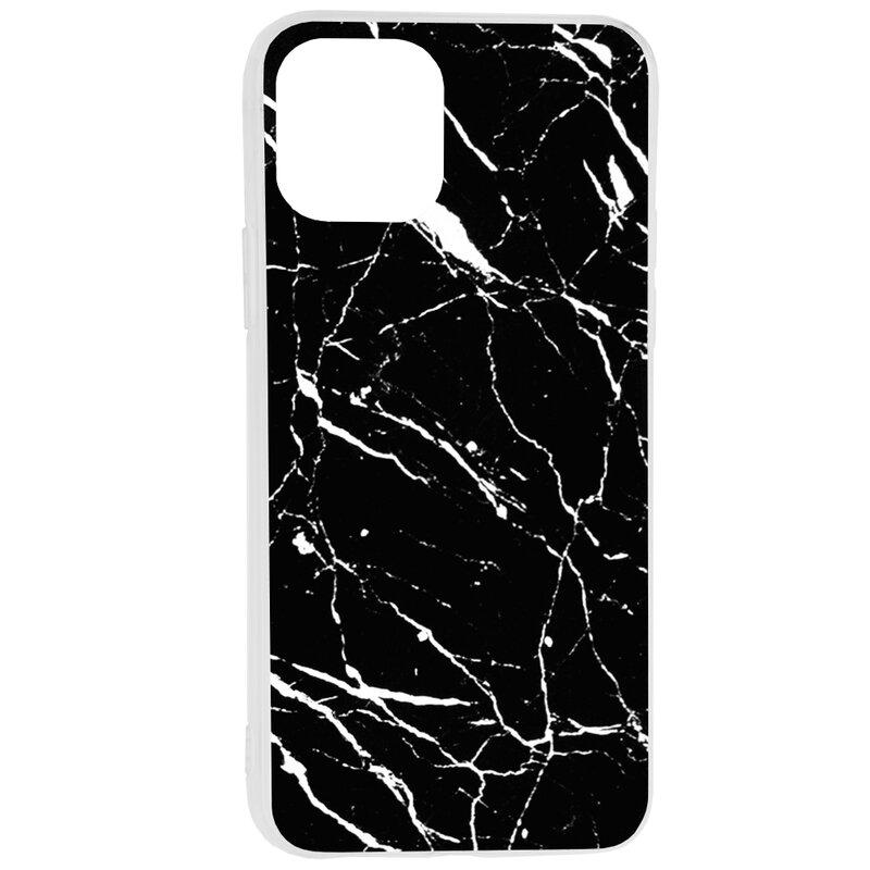 Husa iPhone 11 Pro Max Wozinsky Marble TPU - Black