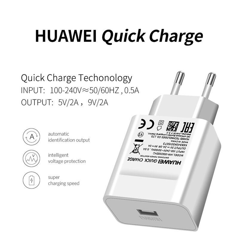 Incarcator Priza Original Huawei Quick Charge USB Fara Cablu De Incarcare 2A - HW-059200EHQ - Bulk - Alb