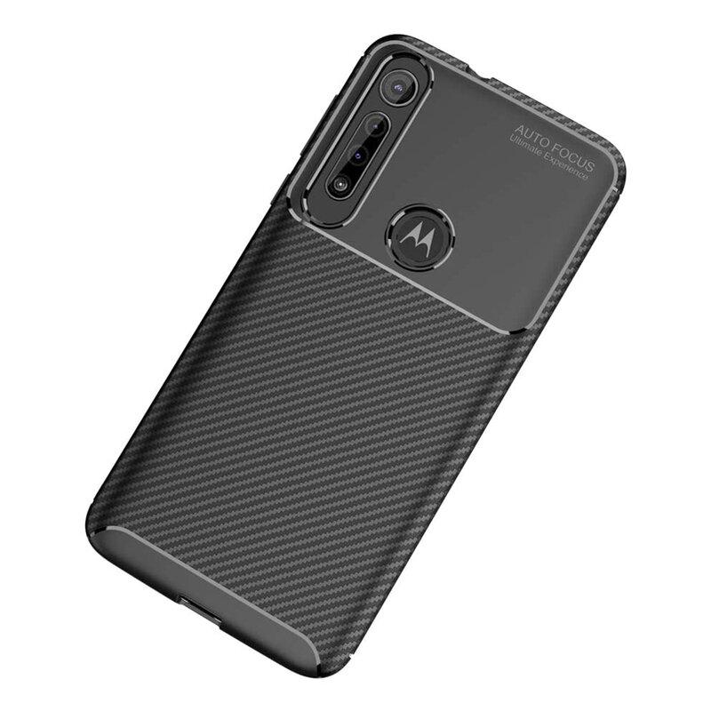 Husa Motorola Moto G8 Play Carbon Skin - Negru