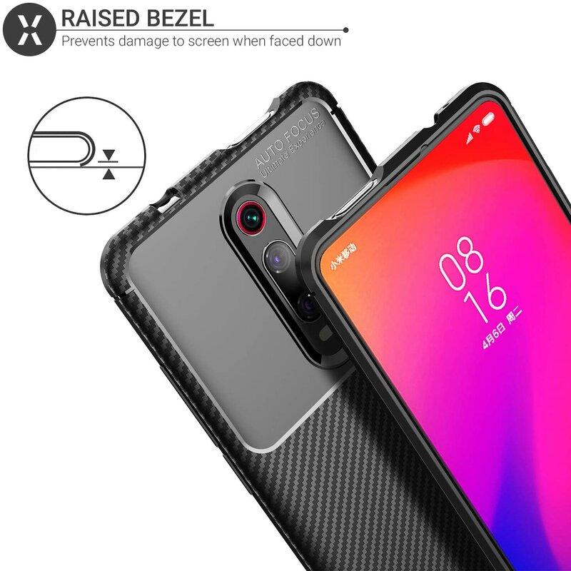 Husa Xiaomi Mi 9T Pro Mobster Carbon Skin Negru