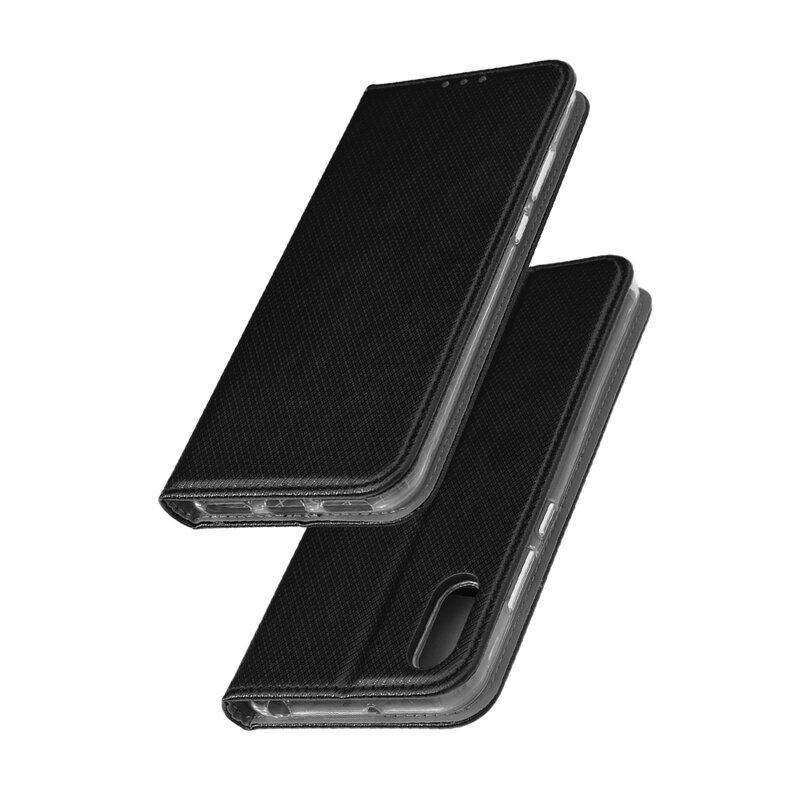 Husa Smart Book Huawei Y6 2019 Flip - Negru