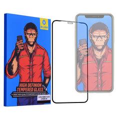 Folie Sticla iPhone 11 Blueo 5D Mr. Monkey Glass Strong HD - Neagra