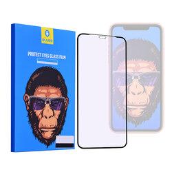 Folie Sticla iPhone 11 Blueo 5D Mr. Monkey Strong Anti-Blue - Negru