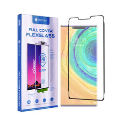 Folie Huawei Mate 30 Pro Bestsuit Fullcover Flexible Glass 9H Hot Bending V2 - Negru