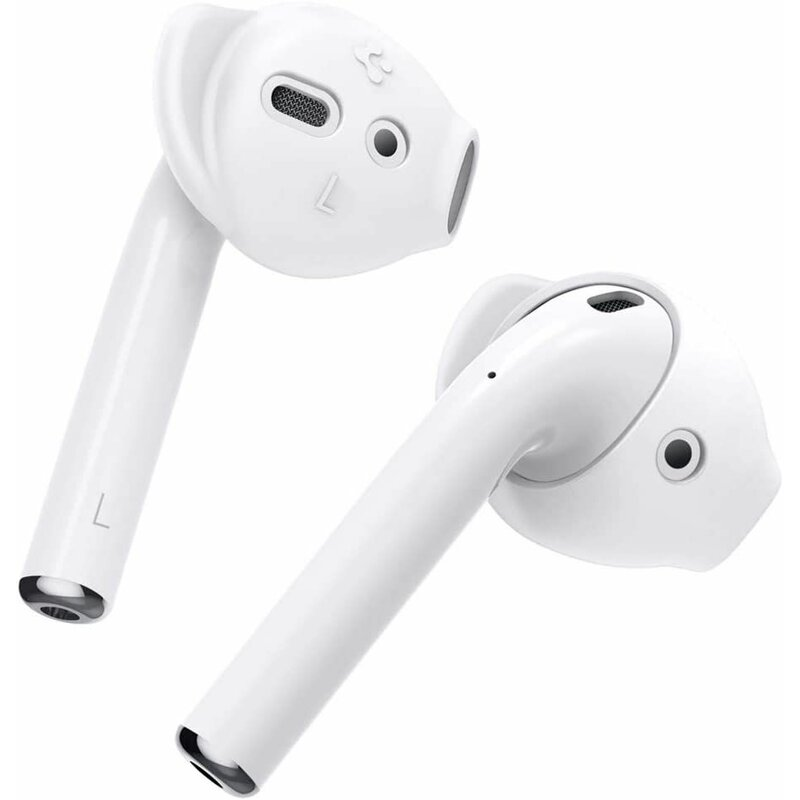 [Pachet 3x] Husa Apple Airpods Spigen Ra201 Eartips Din Silicon Cu Carlig Interior Pentru Ureche - White
