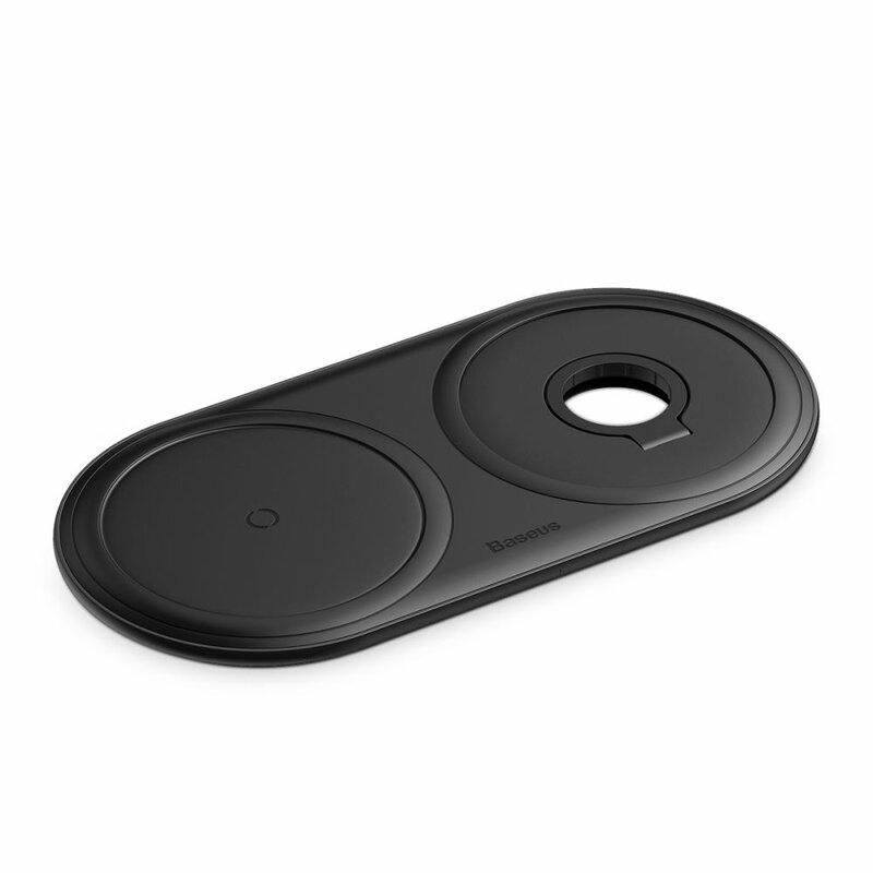 Incarcator Wireless Baseus Planet 2in1 Pentru Telefoane/Apple Watch/Dispozitive Cu Qi 10W 2A - WXPL-B01 - Negru