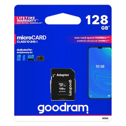 Card De Memorie Goodram Microcard 128 GB Micro SDXC UHS-I 100 MB/s Clasa 10 + Adaptor SD - Negru
