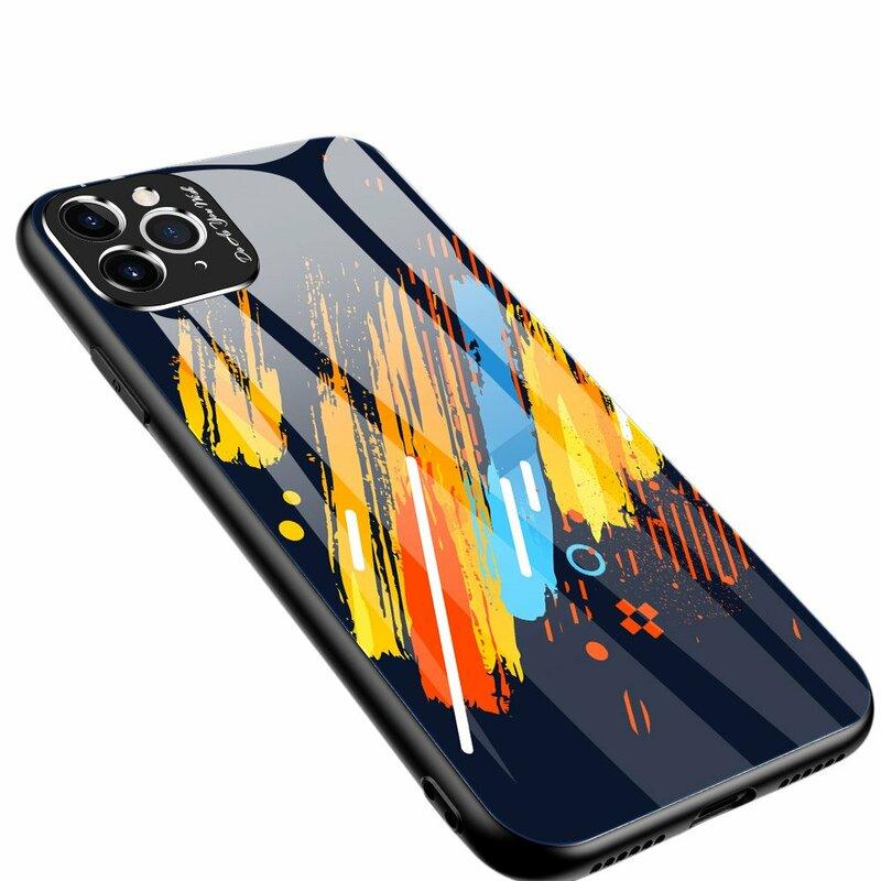 Husa iPhone 11 Pro Multicolora Din Sticla Securizata - Model 5