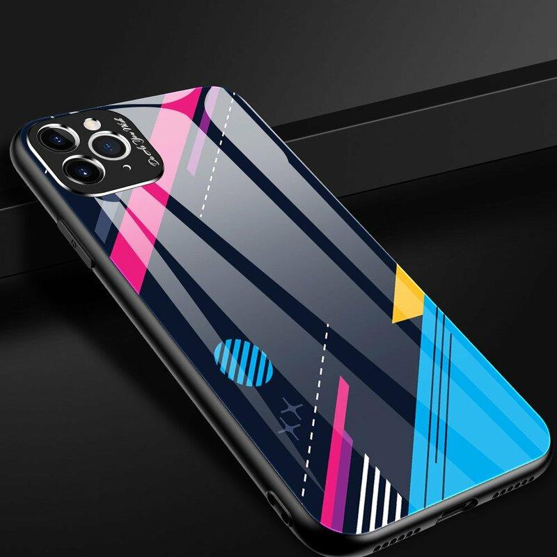 Husa iPhone 11 Pro Multicolora Din Sticla Securizata - Model 4