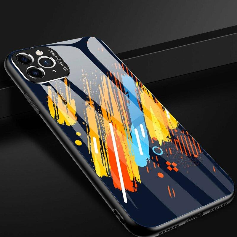 Husa iPhone 11 Pro Max Multicolora Din Sticla Securizata - Model 5