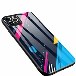 Husa iPhone 11 Pro Max Multicolora Din Sticla Securizata - Model 4