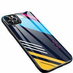 Husa iPhone 11 Pro Max Multicolora Din Sticla Securizata - Model 2