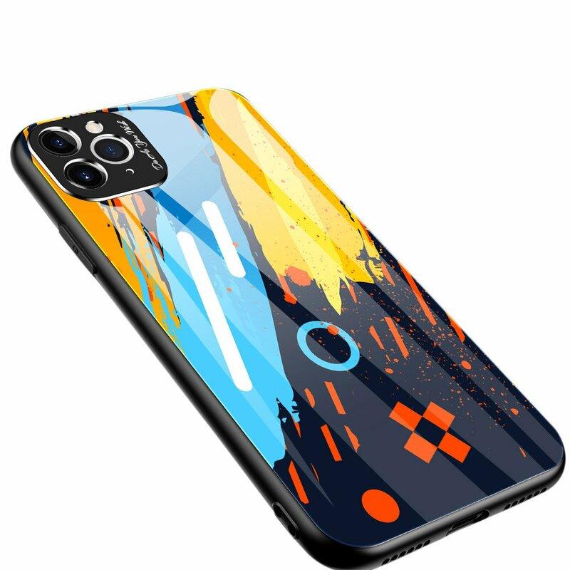 Husa iPhone 11 Pro Max Multicolora Din Sticla Securizata - Model 1