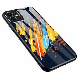 Husa iPhone 11 Color Glass Cu Acoperire Pentru Camera Foto - Pattern 5