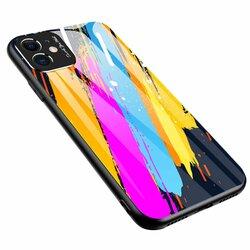 Husa iPhone 11 Color Glass Cu Acoperire Pentru Camera Foto - Pattern 3