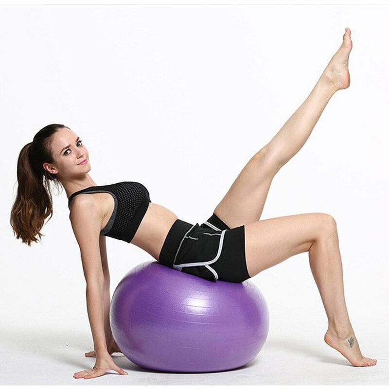 Minge Gimnastica Gonflabila Pentru Recuperare Fizica/Exercitii Intretinere/Fitness/Yoga + Pompa Manuala - Albastru