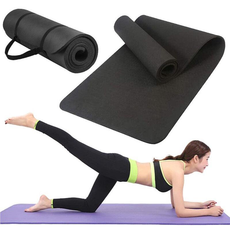 Saltea gimnastica, impermeabila, fitness, yoga, aerobic, pilates, negru