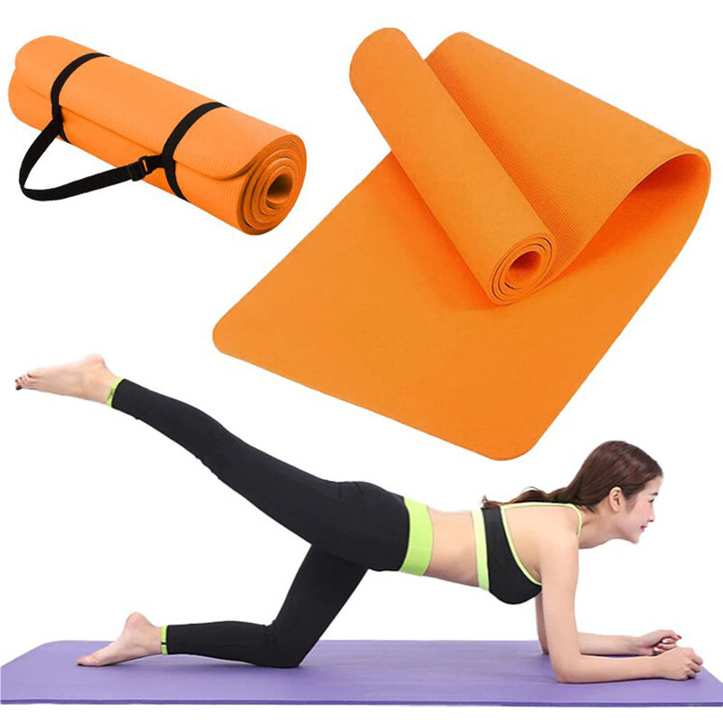 Saltea Gimnastica Non-Alunecare Pentru Exercitii De Intretinere/Fitness/Yoga/Aerobic/Pilates Impermeabila - Portocaliu