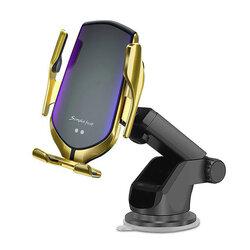 Suport Auto Incarcare Wireless Tech-Protect R2 Pentru Parbriz, Grila De Ventilatie - Auriu