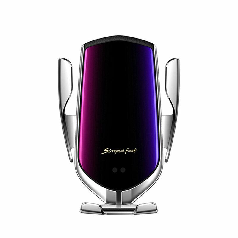 Suport Auto Incarcare Wireless Tech-Protect R2 Pentru Parbriz, Grila De Ventilatie - Argintiu