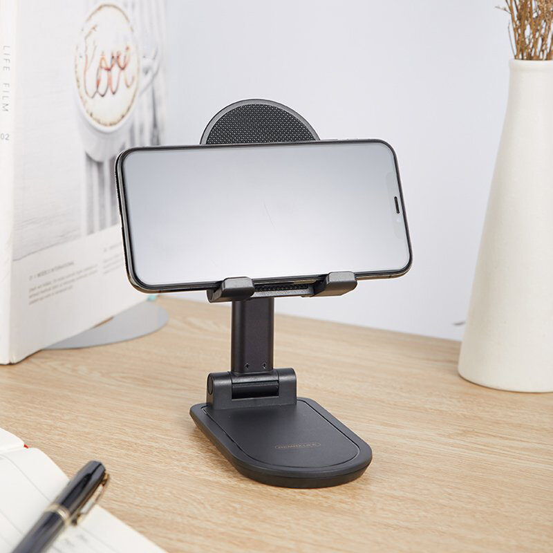 Suport Birou Remax RL-CH13 Folding Stand Telescopic Ajustabil Si Pliabil Pentru Telefon / Tableta / eBook - Negru