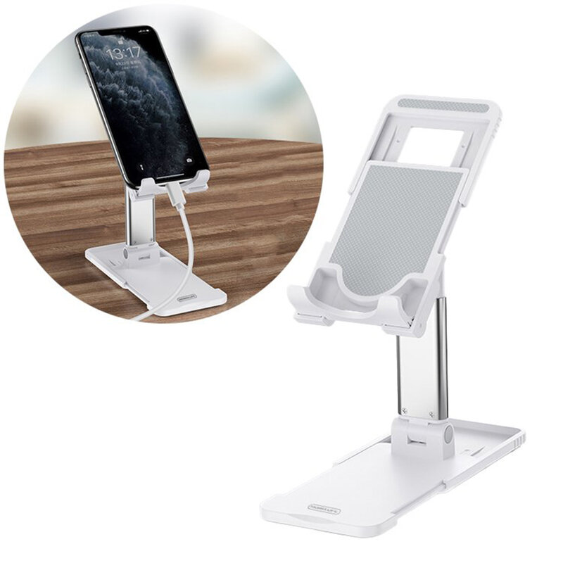 Suport Birou Remax RL-CH15 Pro Telescopic De Tip Stand Ajustabil Si Pliabil Pentru Telefon / Tableta / eBook - Alb
