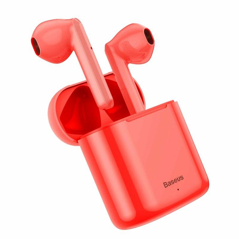 Casti In-Ear Baseus Encok TWS W09 Mini True Wireless Earphone Bluetooth 5.0 Power Bank - NGW09-09 - Rosu