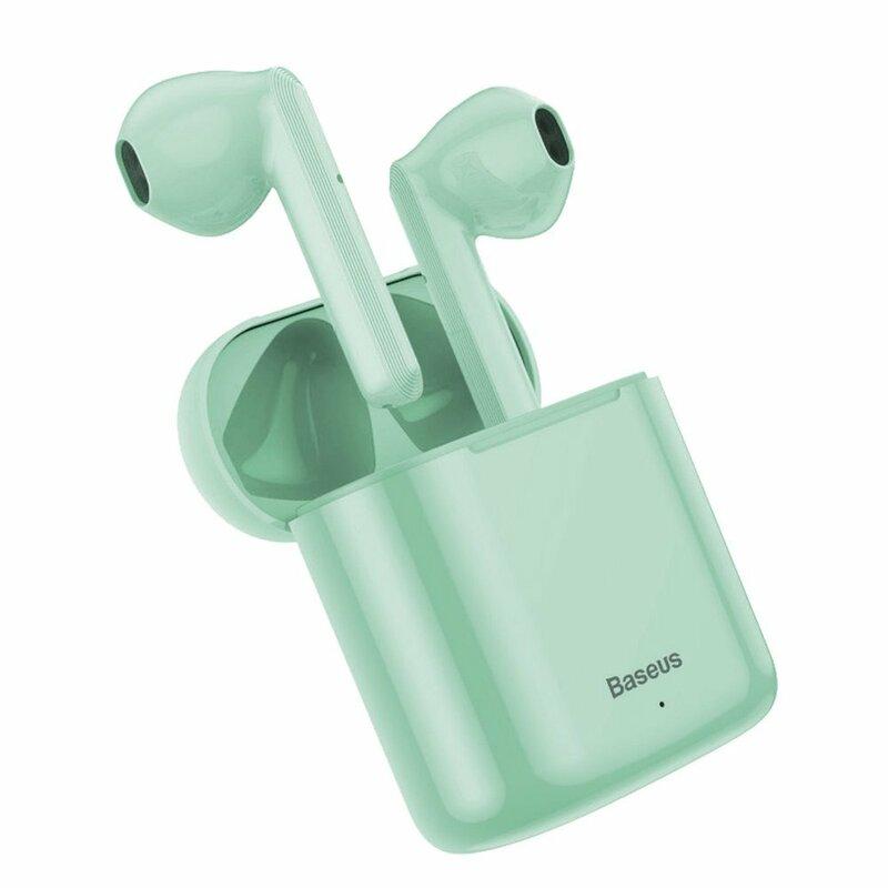 Casti In-Ear Baseus Encok TWS W09 Mini True Wireless Earphone Bluetooth 5.0 Power Bank - NGW09-06 - Verde