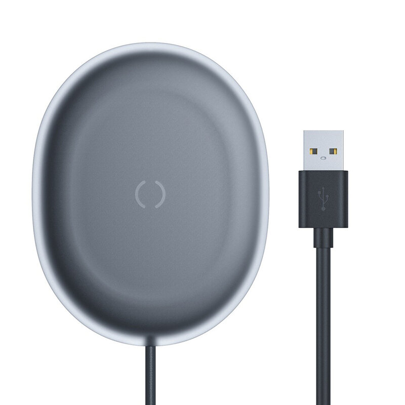 Incarcator Wireless Baseus Jelly Qi Orizontal 15W + Cablu De Incarcare USB/Type-C 1m - WXGD-01 - Negru