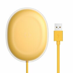 Incarcator Wireless Baseus Jelly Qi Orizontal 15W + Cablu De Incarcare USB/Type-C 1m - WXGD-0Y - Galben