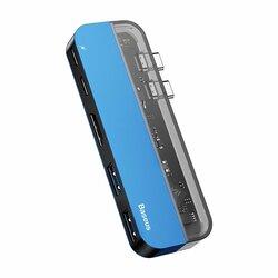 Hub Baseus Multifunctional Adaptor Type-C PD 60W / Type-C 15W / HDMI 4K / 2x USB 3.0 - CAHUB-TS03 - Albastru