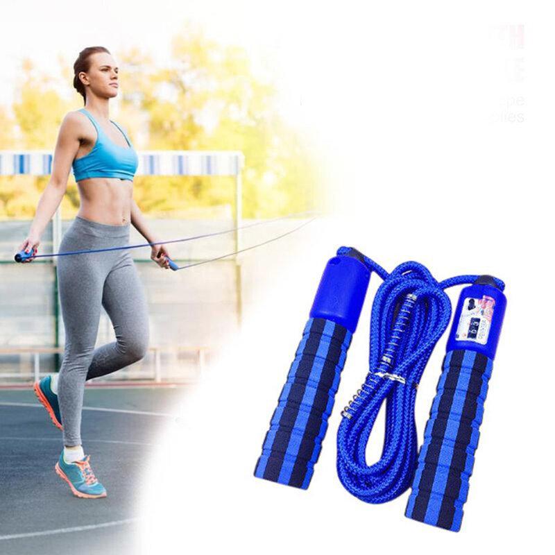 Coarda Cu Manere Sport Multifunctionala Pentru Sarituri/Exercitii De Intretinere/Fitness/Cardio/Aerobic - Albastru