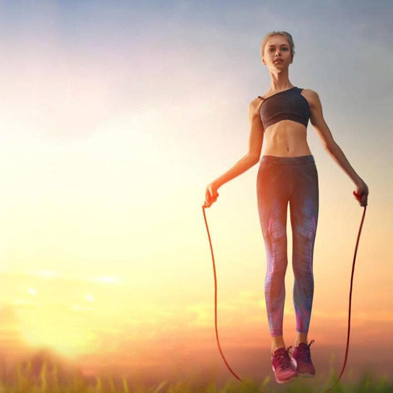 Coarda sport multifunctionala, sarituri, fitness, cardio, aerobic, galben