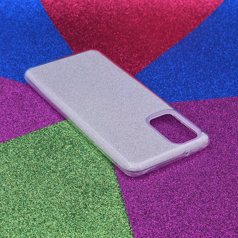 Husa Samsung Galaxy S20 Plus 5G Color TPU Sclipici - Argintiu