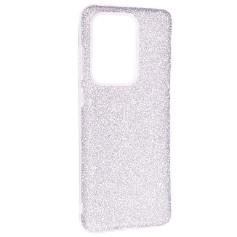 Husa Samsung Galaxy S20 Ultra 5G Color TPU Sclipici - Argintiu