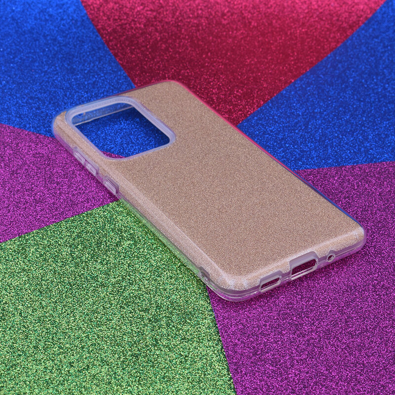Husa Samsung Galaxy S20 Ultra 5G Color TPU Sclipici - Auriu