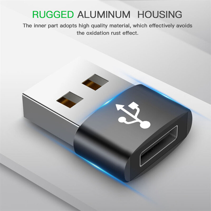 Adaptor Mobster De La Type-C 2.0 La USB 3.0 OTG Cu Functie De Incarcare Rapida 3A Si Transfer De Date - Negru