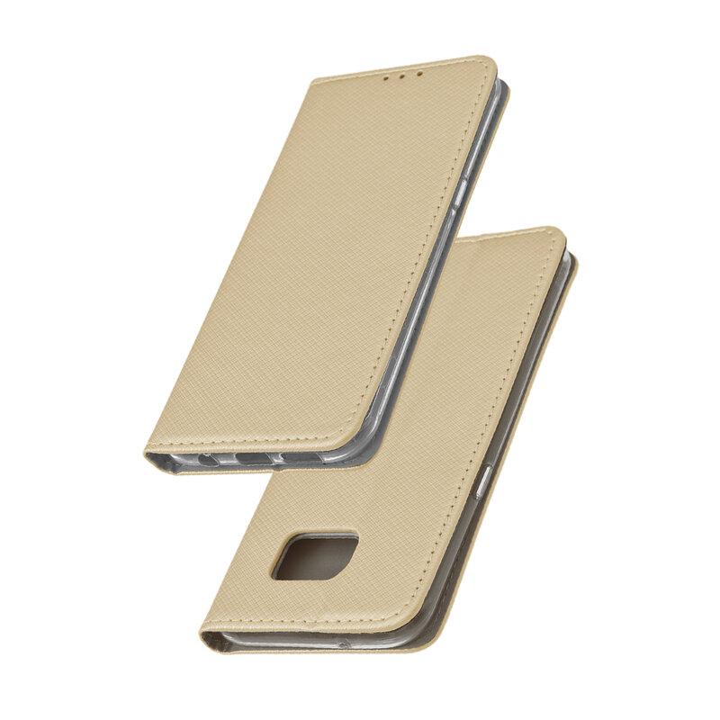 Husa Smart Book Samsung Galaxy S7 Edge G935 Flip Auriu