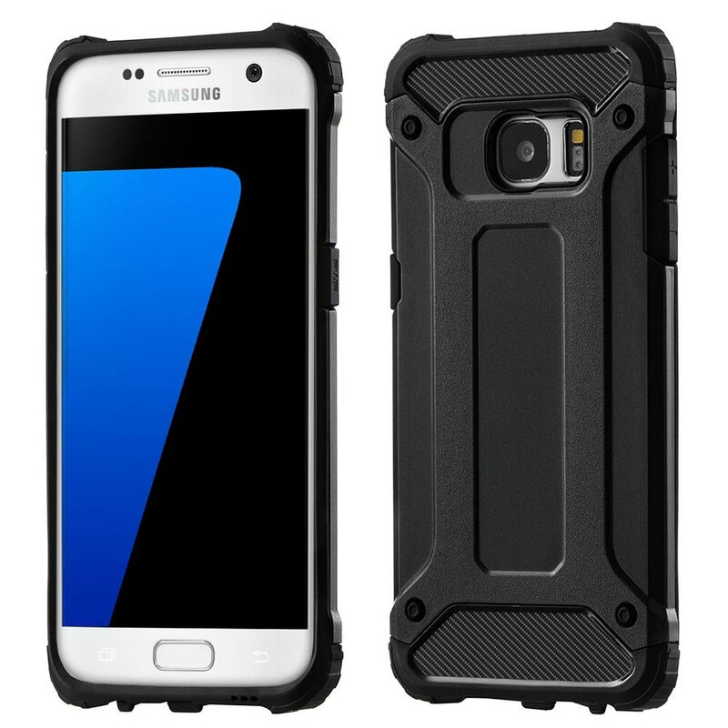 Husa Samsung Galaxy S7 Edge Mobster Hybrid Armor - Negru