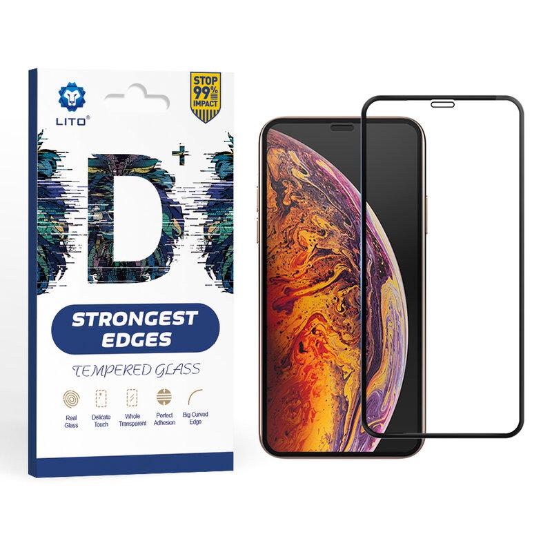 Folie Sticla Xiaomi Redmi Note 8 Lito Strongest Edges Cu Rama - Negru