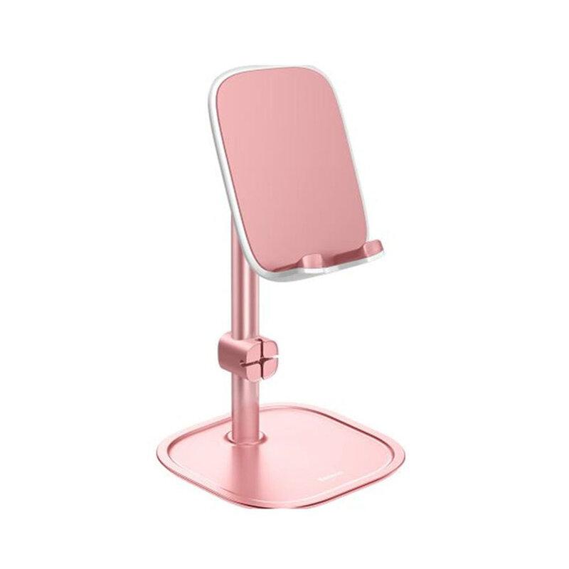 Suport birou telescopic Baseus telefon, organizator cabluri, roz auriu, SUWY-A0R