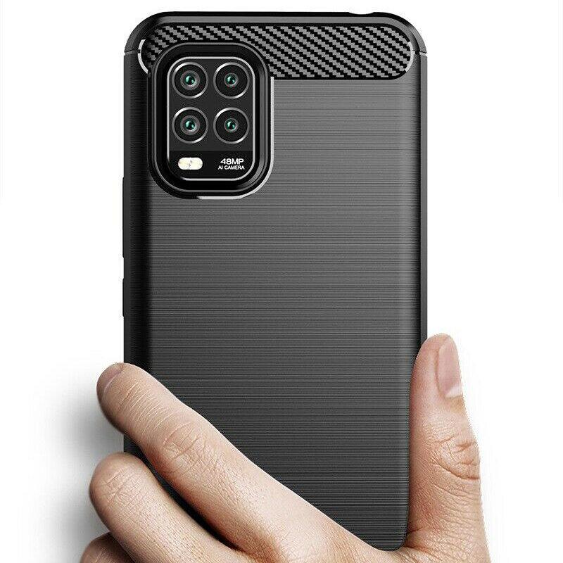 Husa Xiaomi Mi 10 Lite TPU Carbon - Negru