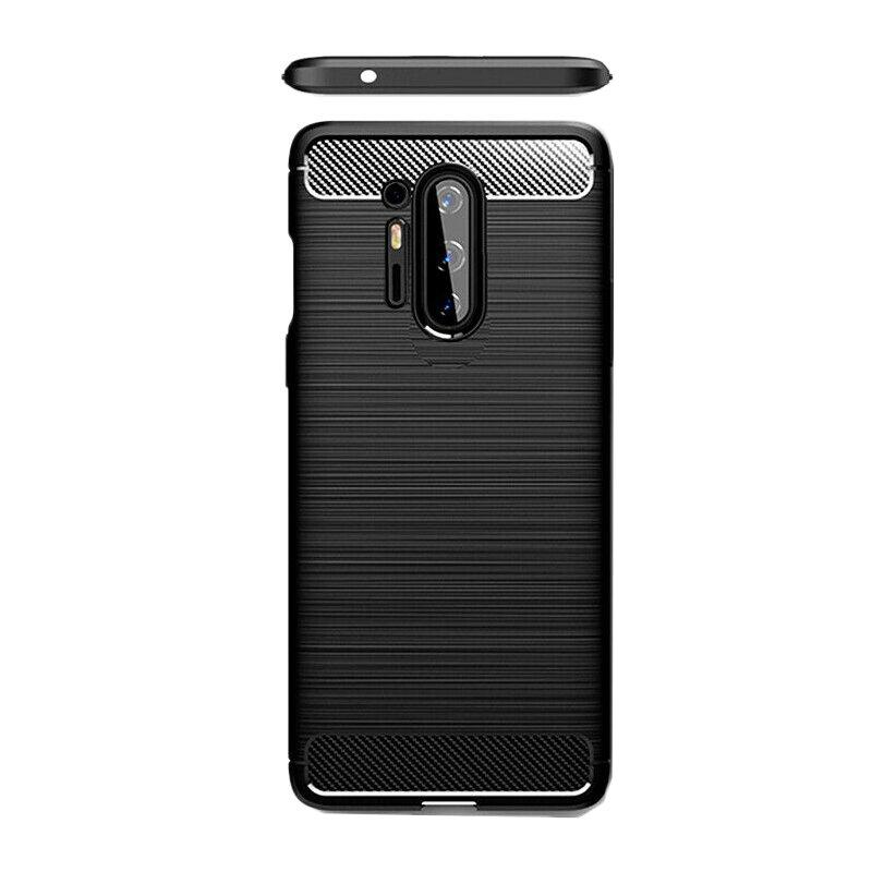 Husa OnePlus 8 Pro TPU Carbon - Negru