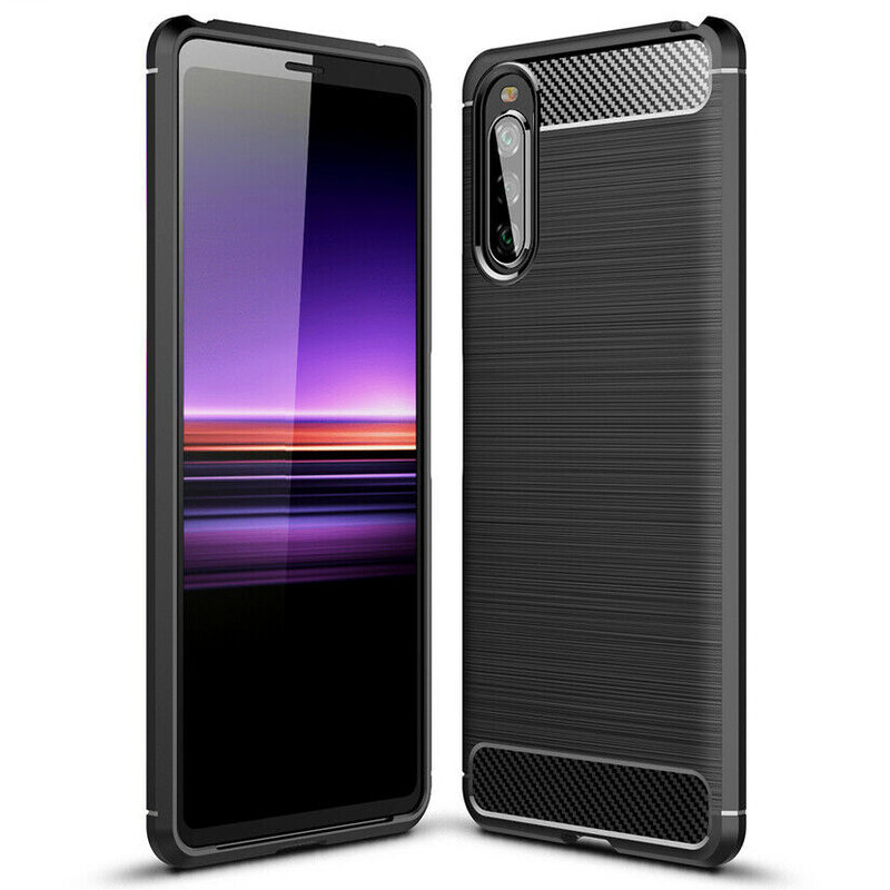 Husa Sony Xperia 10 II TPU Carbon - Negru